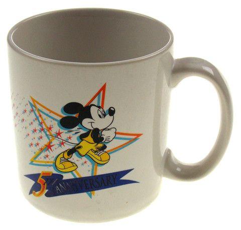 Walt Disney World Marathon Coffee Mug Mickey Mouse 5th Anniversary Jan 11 1998