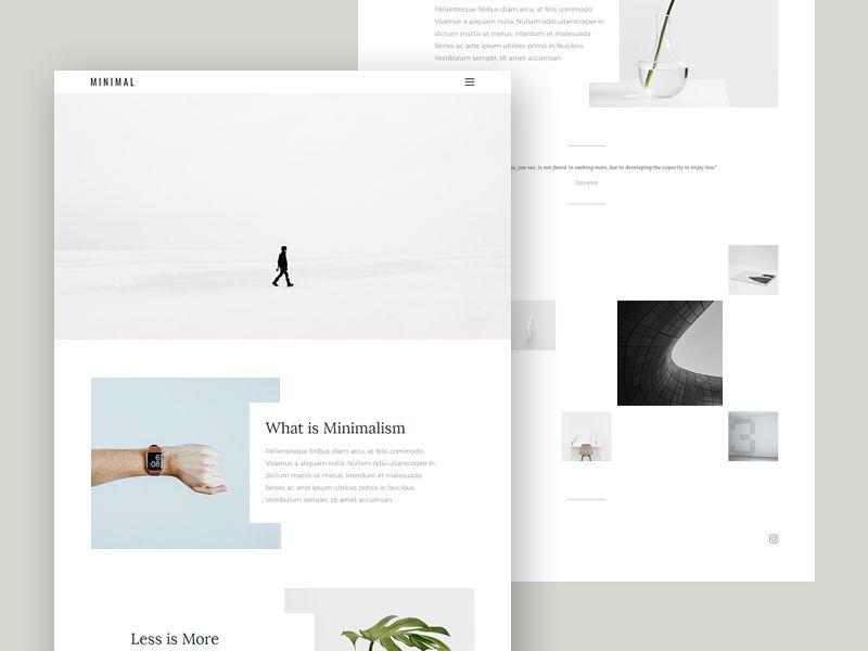 nice minimal portfolio template free psd  download minimal
