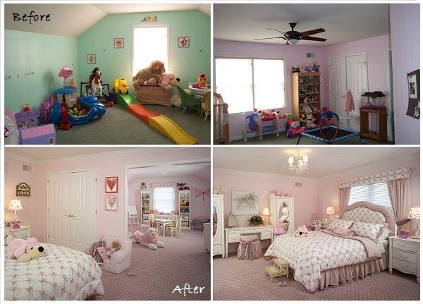 bedroom makeover for a little girl