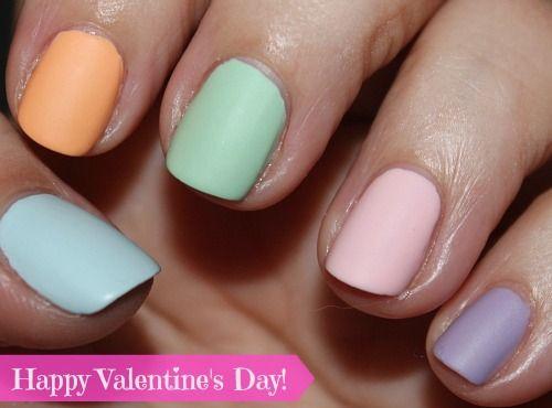 's nails - valentine's