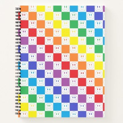 Rainbow Tiles and Smiles Notebook - fun gifts funny diy customize personal
