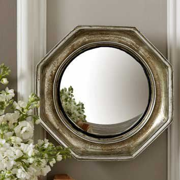 Convex Wall Mirror distressed octagonal chatelet convex wall mirror two's company