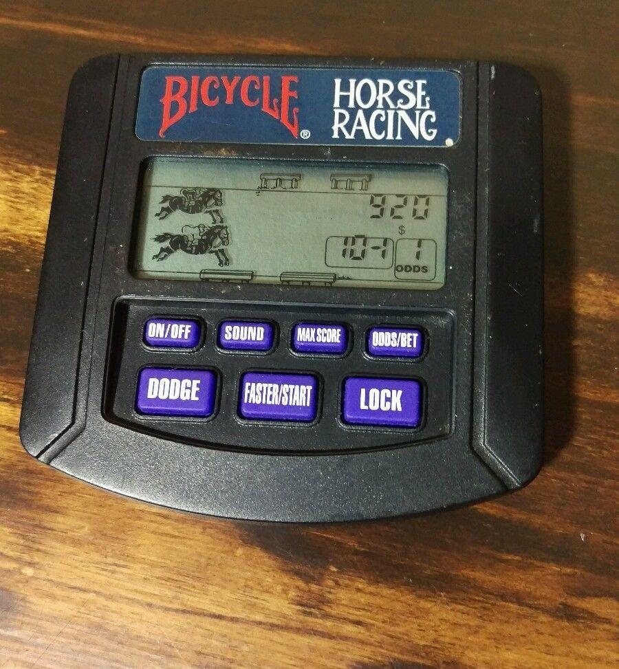 1994 Tiger Electronics Handheld Bicycle HORSE RACING GAME