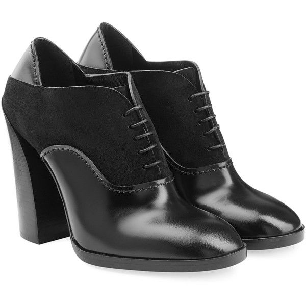 Jil Sander Leather Ankle Boots (€525) ❤ liked on Polyvore featuring shoes, boots, ankle booties, black, black booties, black bootie, tall leather boots, ankle boots and short black boots