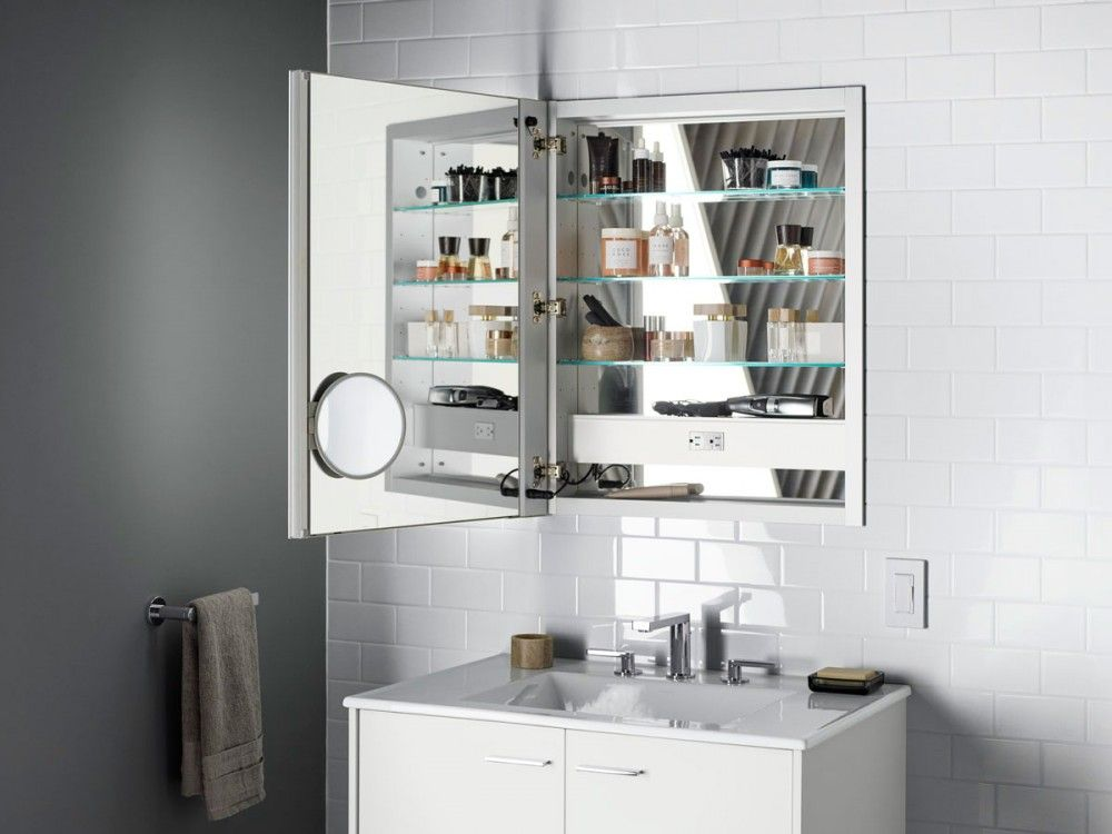 Slant Of Light Bathroom Kohler Ideas Lighted Medicine Cabinet Mirror Cabinets Bathroom Mirror Cabinet