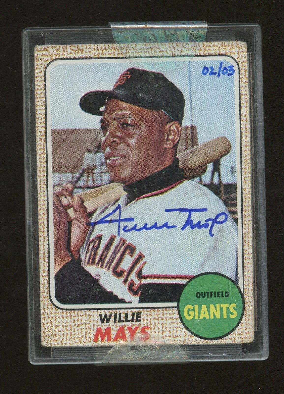 1968 topps 50 2004 originals willie mays giants hof