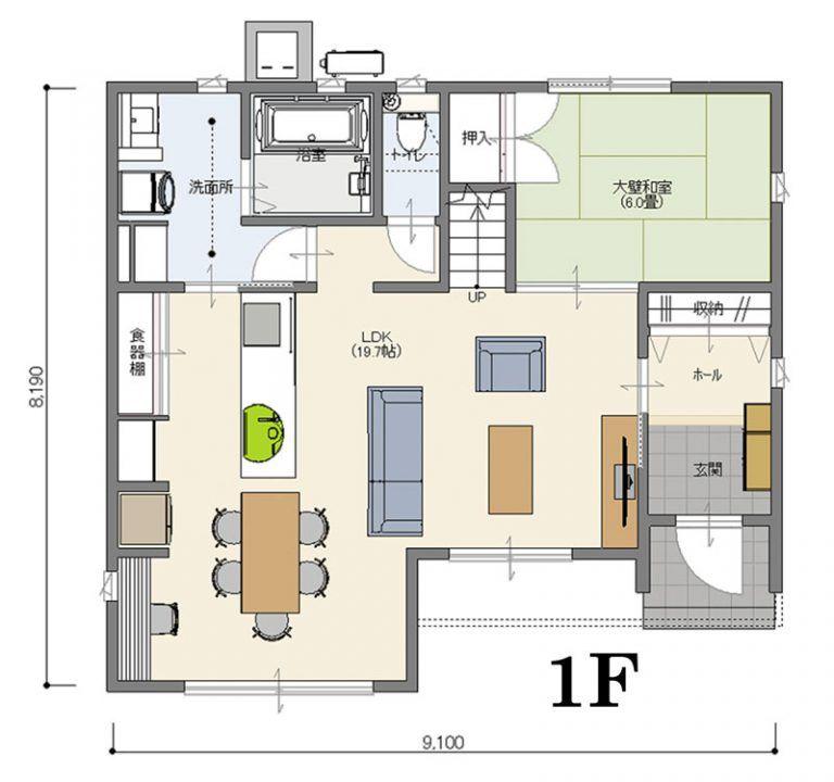 3 5 4 5の2f見取り図 Casa Sky 屋上庭園のある家 With Casa
