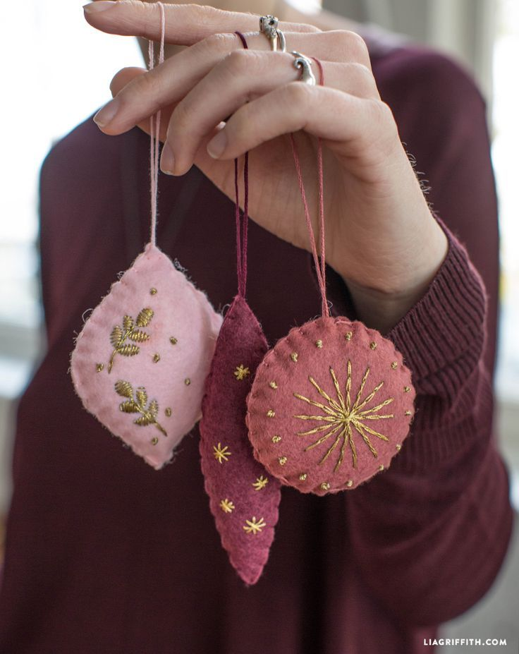 Embroidered Felt Ornaments - Lia Griffith