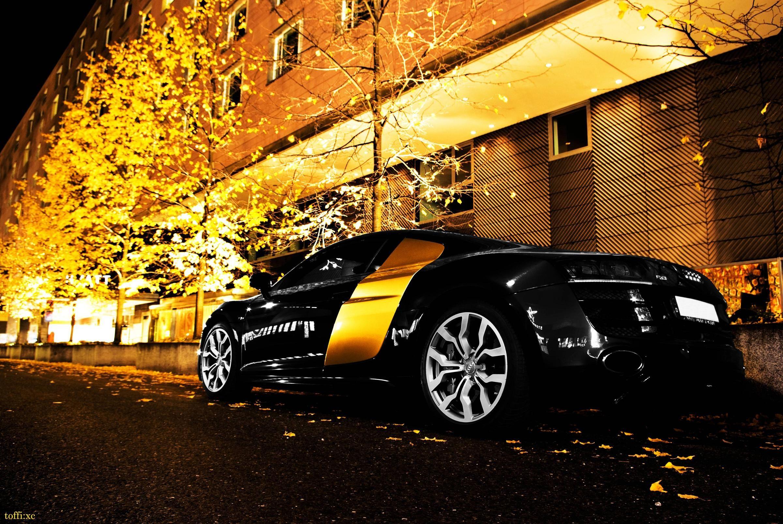 Audi R8 Black Gold 1080p Auto Carros