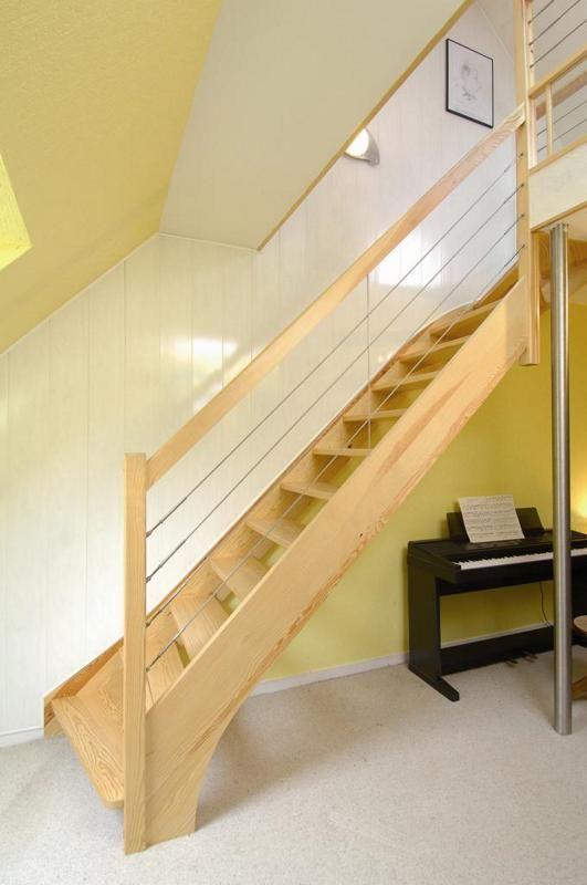 escalier bois main courante cable - Recherche Google | Sous les ...