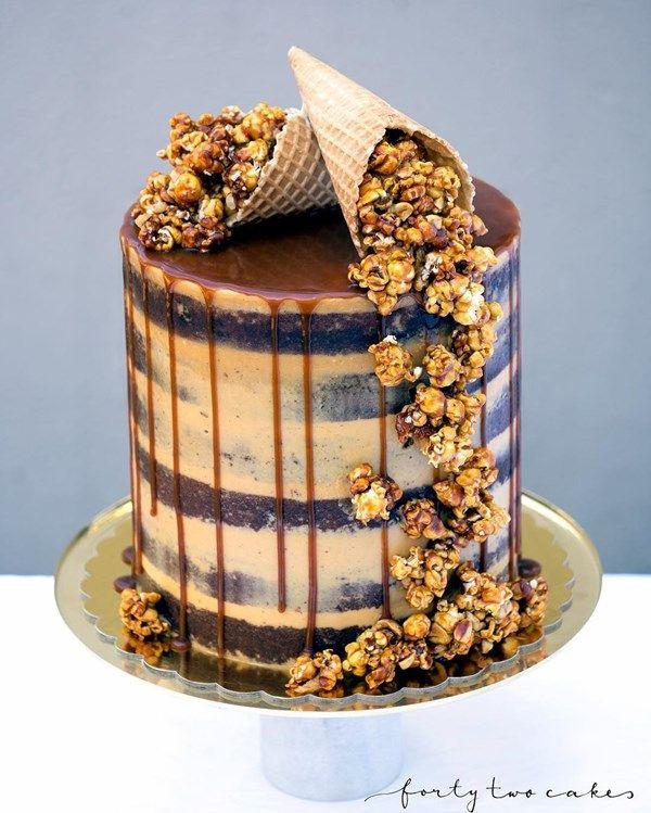 Photo of 13 glorious popcorn wedding cakes