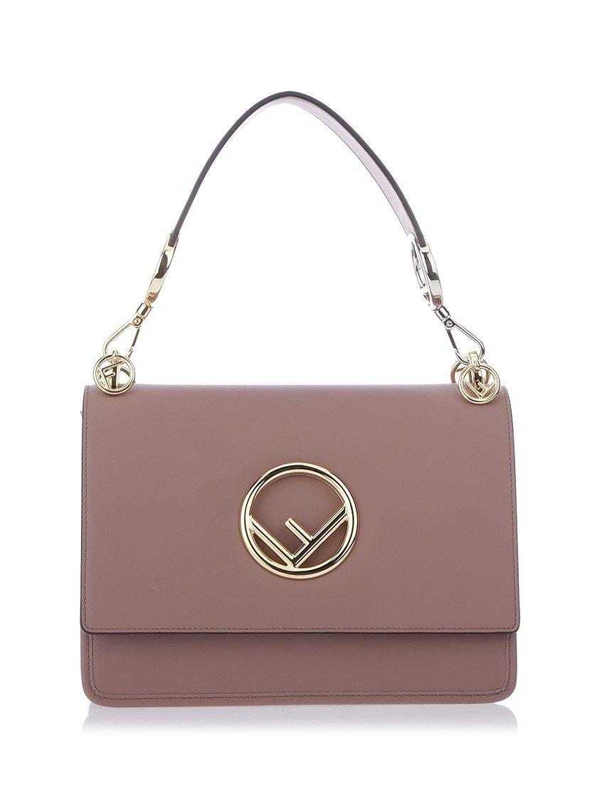 FENDI Old rose Kan I F handbag.  fendi  bags  shoulder bags  hand bags   leather  charm  accessories   87bf6e1a00e48