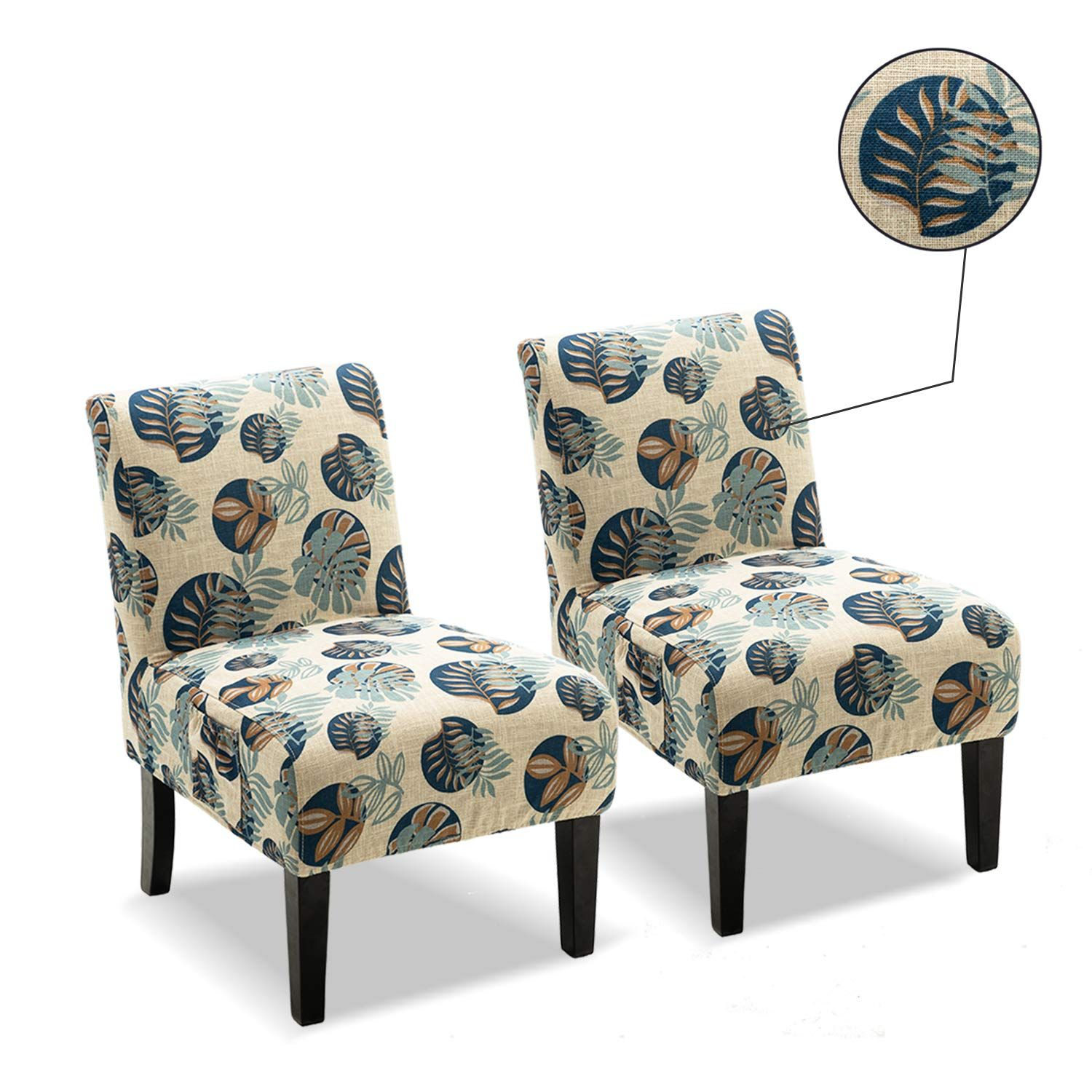 Altrobene Armless Accent Chair Slipcover Sets, 2 Pack