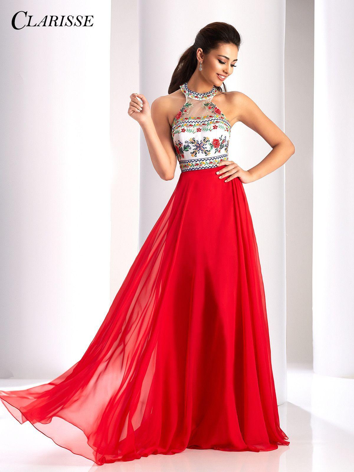 Clarisse prom redmulti halter prom dress prom pinterest