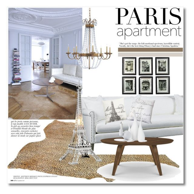 """Paris Apartment"" by vkmd ❤ liked on Polyvore featuring interior, interiors, interior design, home, home decor, interior decorating, Uttermost, Anja, Lillian August and Eichholtz"