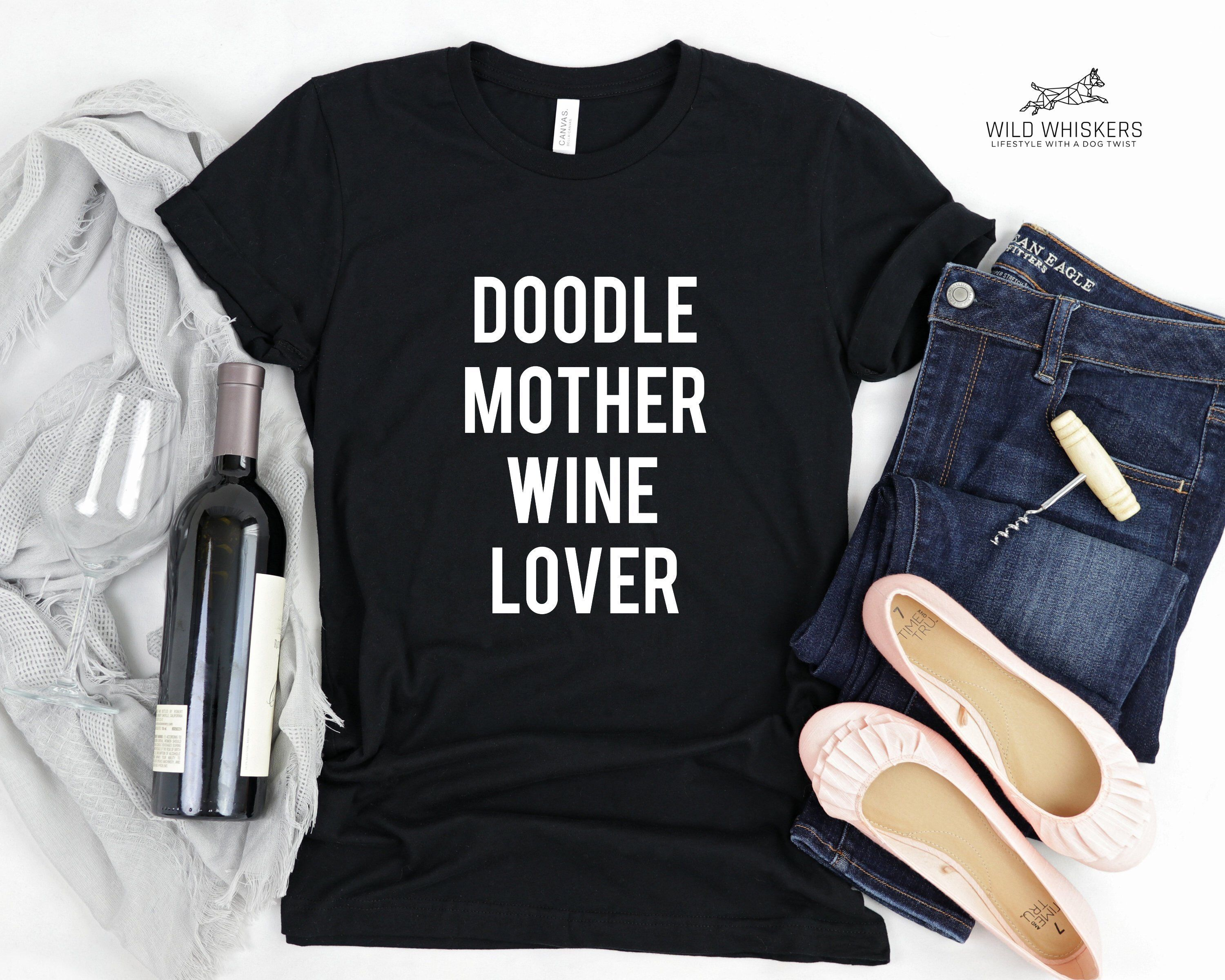 f481e70b Excited to share this item from my #etsy shop: Doodle Mother Wine Lover  Goldendoodle