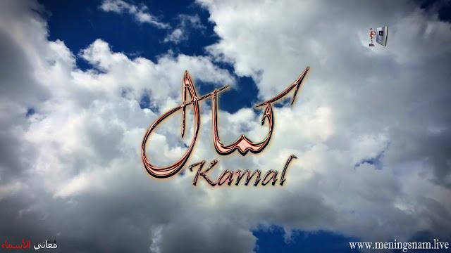 معنى اسم كمال وصفات حامل هذا الاسم Kamal Neon Signs Neon Arabic Calligraphy