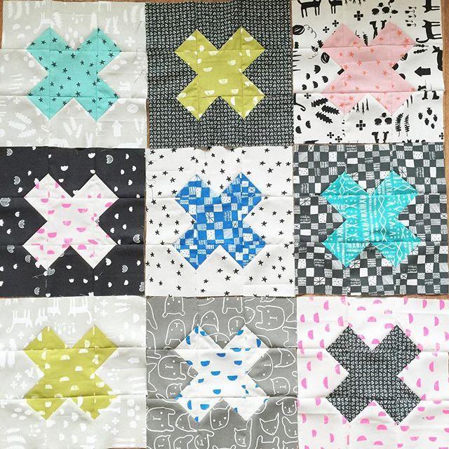 Cross Blocks aus der neuen Kollektion Printshop (ab August) von @alexiamarcelleabegg für @cottonandsteel…