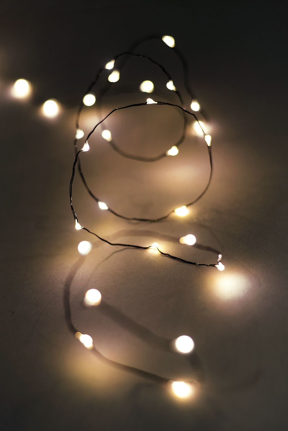 Fairy lights outdoor 10ft 60 warm white battery op lights wedding ten feet strand of outdoor battery operated 60 warm white led fairy lights each light is space apart with a lead wire to aloadofball Image collections