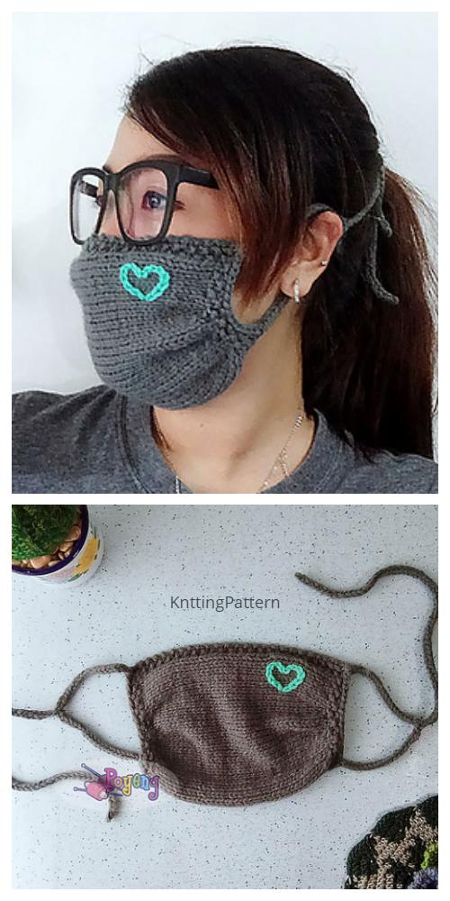 Photo of Knit Face Mask Free Knitting Pattern and Paid – Knitting Pattern