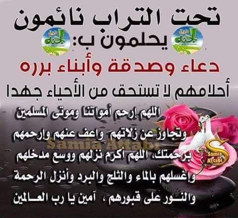 Desertrose ادعوا لموتاكم و موتى المسلمين فهم فى أمس الحاجة للدعاء دعاء وفاء للموتى Words Quotes Ahadith