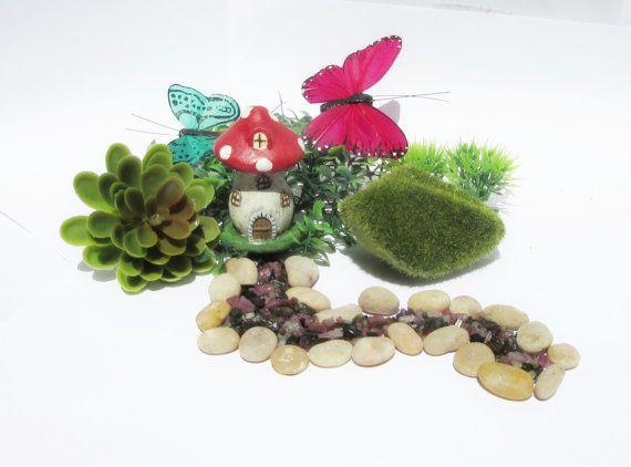 Mushroom House Cottage Gemstone Reiki by PalmSpringsUnique on Etsy