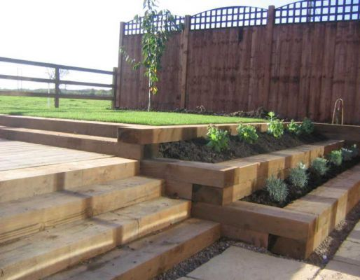 bill sweets railway sleeper landscaping