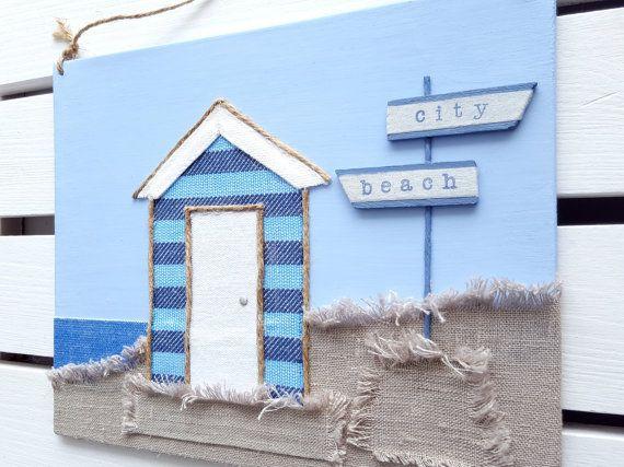 Beach Hut Decor Beach Hut Sign Beach Decor 3d By Havenofharmony