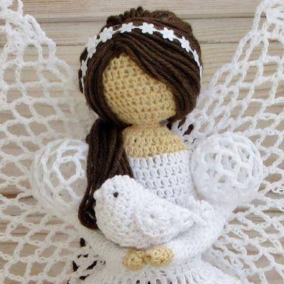 Anjos de crochê | Pinterest | Ángeles de ganchillo, Popular y Adornos