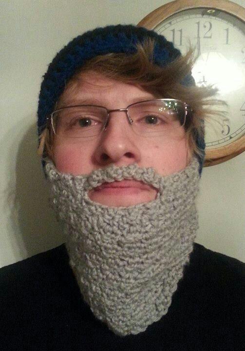 Old man beard hat w/pom pom by: Crochet By Gay www ... Old Man Fake Beard