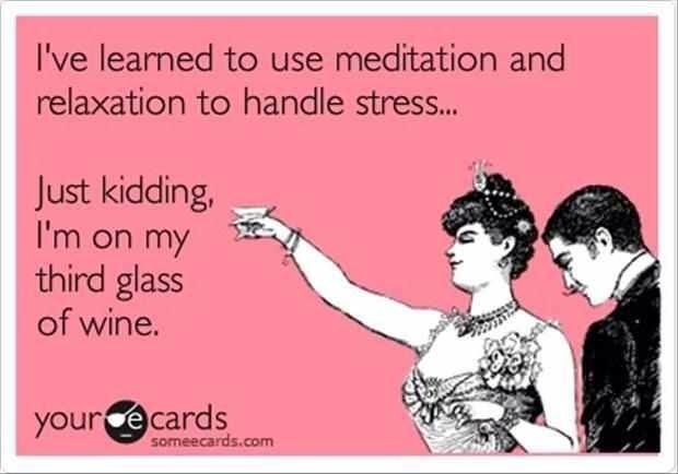 Red wine usually helps!
