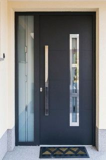 Modern Front Aluminum Entry Door With A Sidelite Modern Front