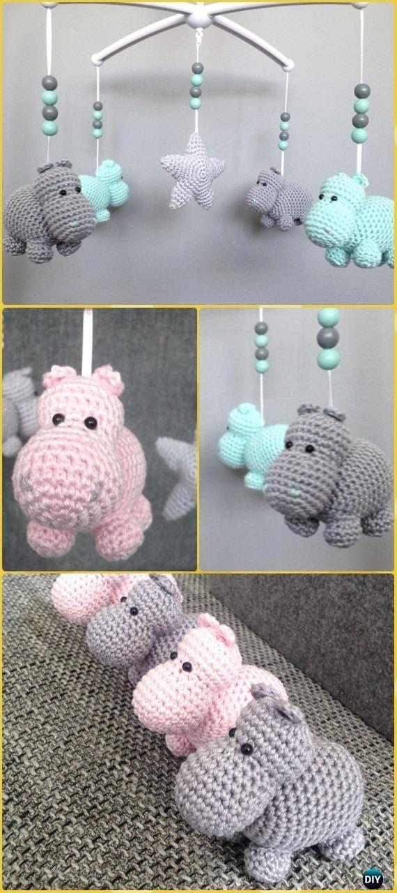 Crochet Amigurumi Hippo Mobile Free Pattern - Amigurumi Crochet ...