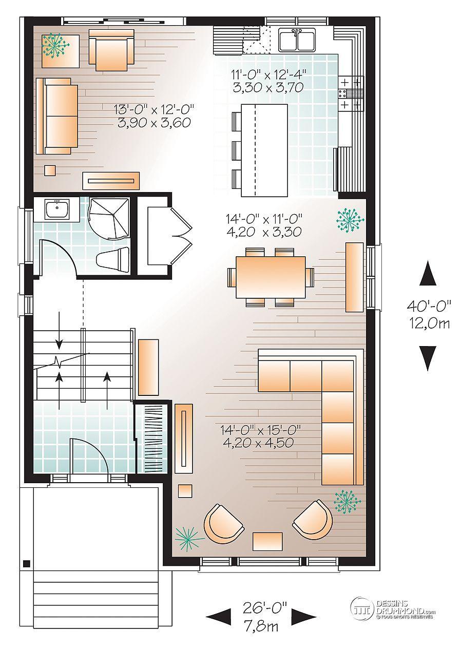 plan de maison 26 x 40