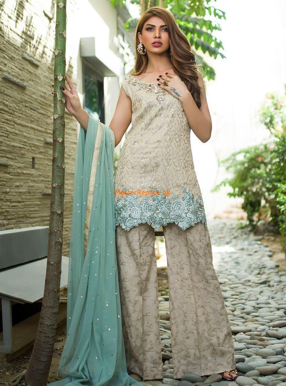 d8647f36e7 Check Out ZAINAB CHOTTANI Latest BEIGE AND MINT Embroidered Chiffon  Collection Replica at Master Replica Pakistan Call/WhatsApp: +923322622227  #pakiclothing ...