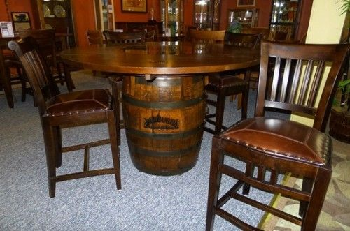 Door County Furniture Jack Daniels Barrel Table Shopreed Com