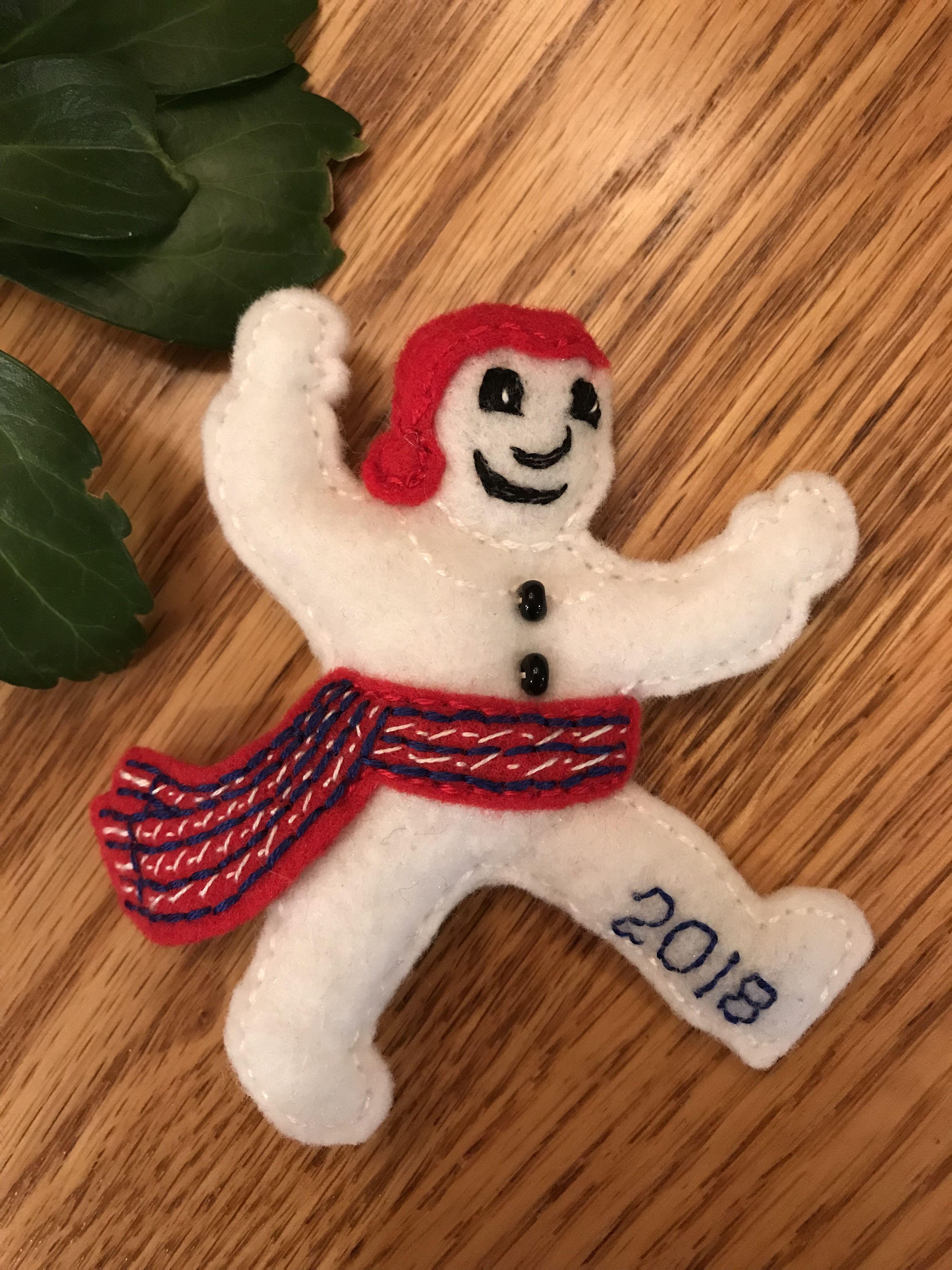 Felt Bonhomme Quebec City Winter Carnival 2018 Christmas Ornaments Crafts Holiday Decor