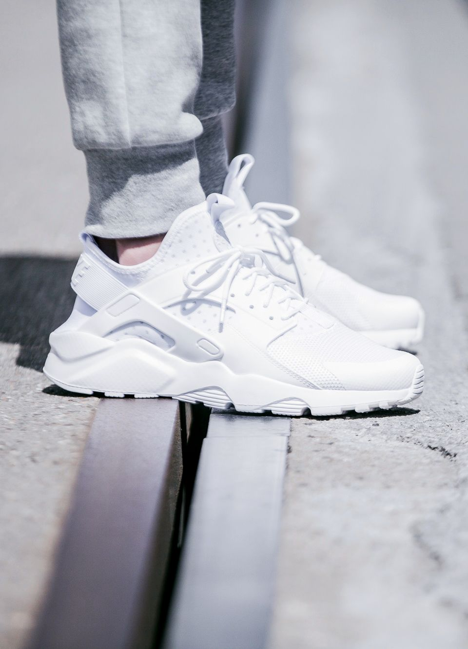 ca9b42afcafb Nike Air Huarache Run Ultra  Triple White  (via Kicks-daily.com)