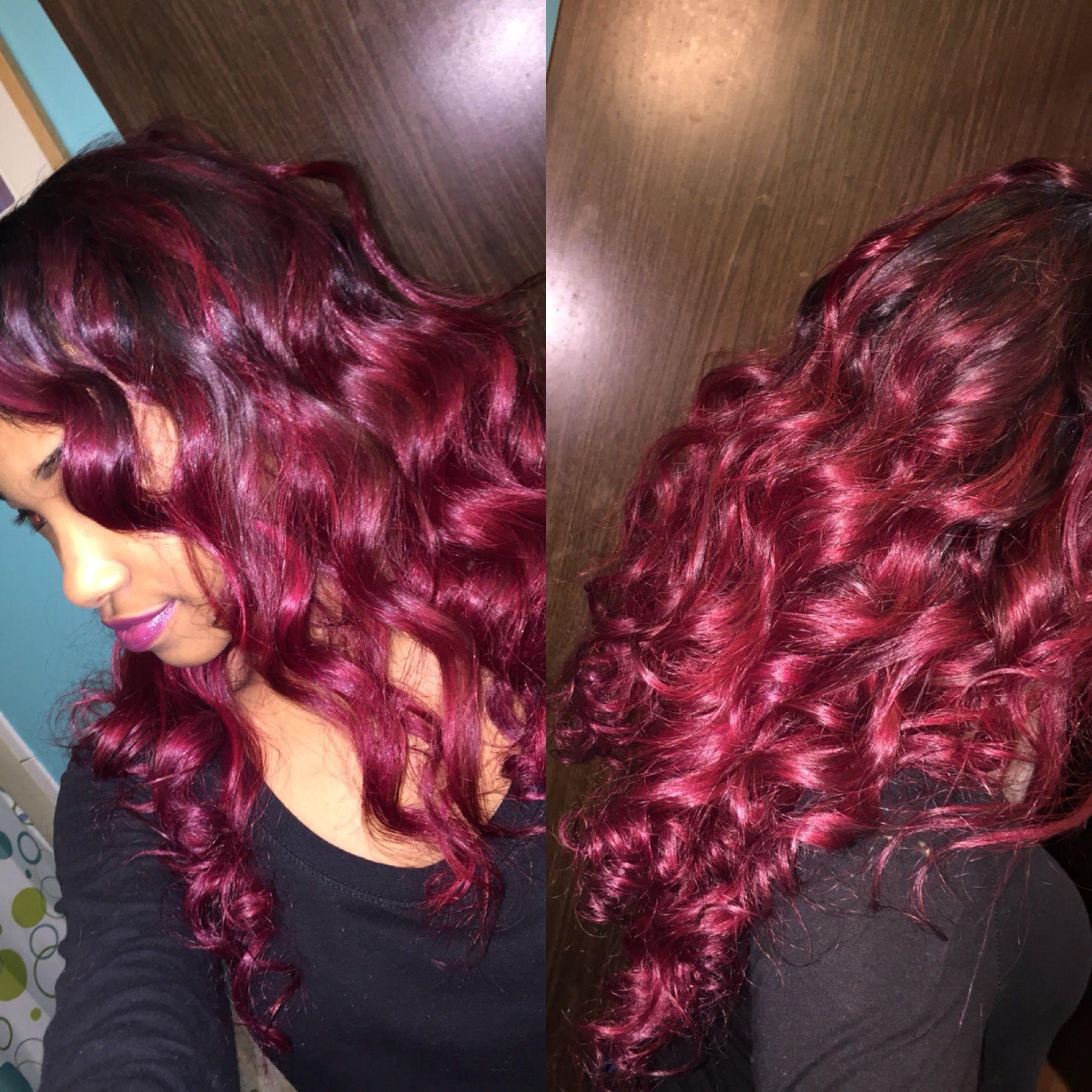 How I Got My Hair Burgundy Red Without Bleach Burgundy Hair