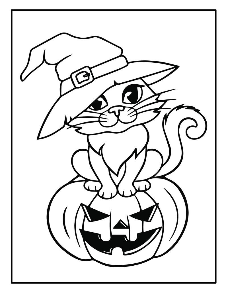 Printable Halloween Coloring Book For Kids 50 Halloween Etsy In 2021 Halloween Coloring Book Free Halloween Coloring Pages Halloween Coloring