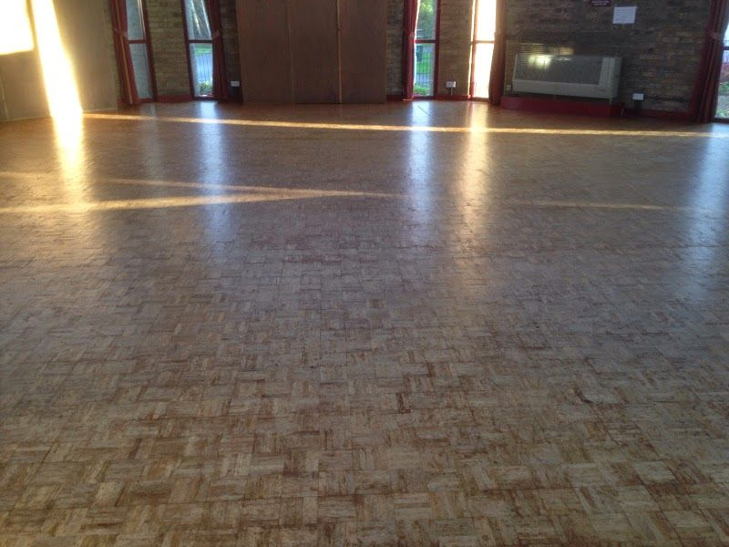 Sanding And Oiling Wooden Floor At Church Hall In Bar Hill