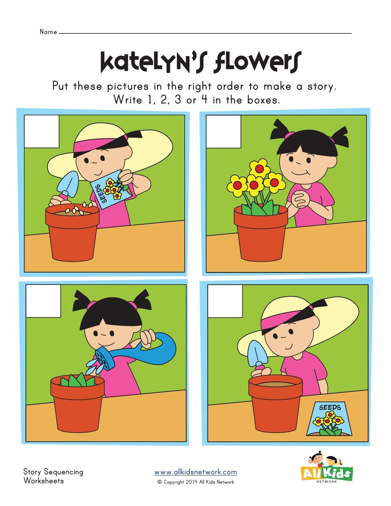 photo relating to 4 Step Sequencing Pictures Printable titled sequencing worksheet - planting bouquets Eseményképek