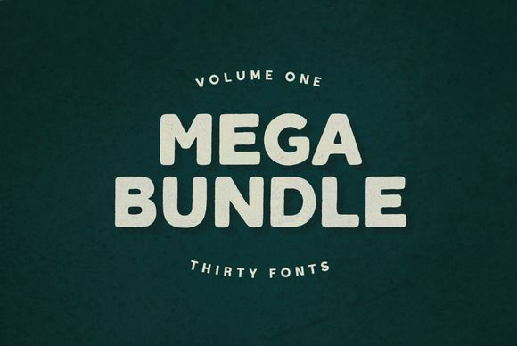 Mega Bundle Vol. 1 - 30 Fonts    byBLKBKin Fonts Display            Take advantage of this limited time offer while it lasts. 30 ...
