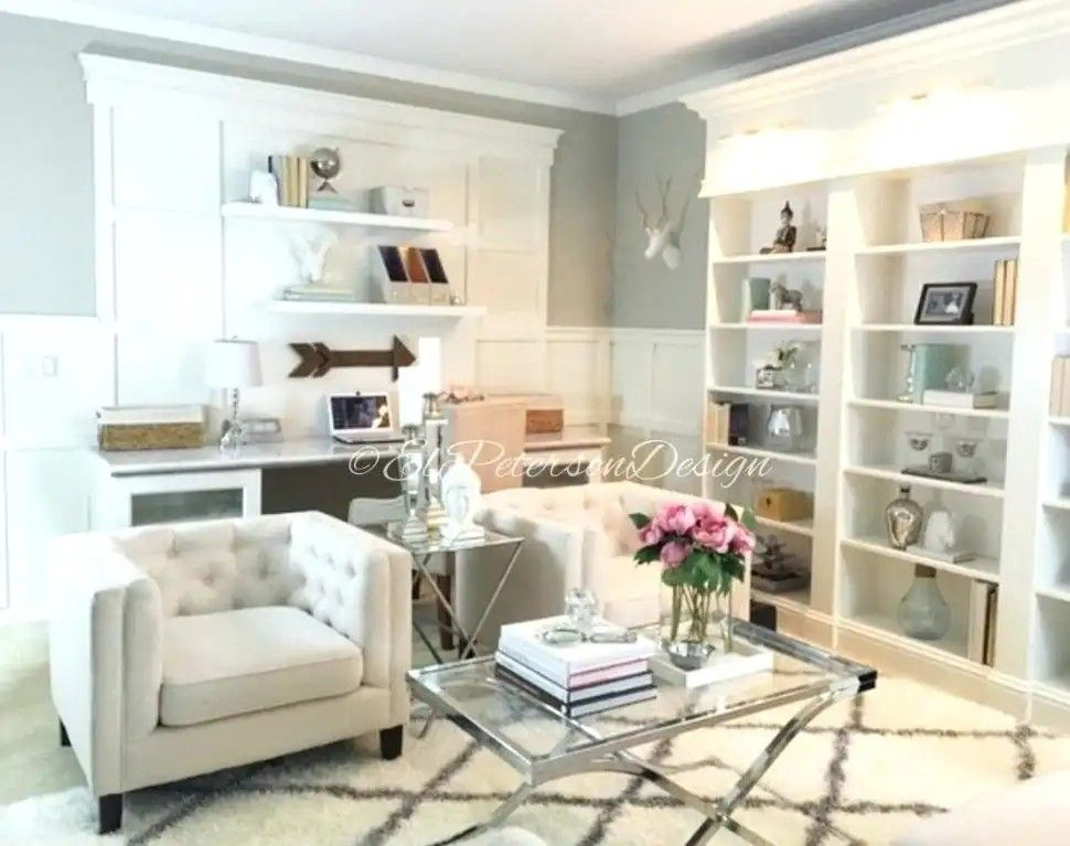 Pin By Sabina Younis On Office Family Room Combo Living Room Bedroom Combination Living Room Dining Room Combo Small Apartment Living Room