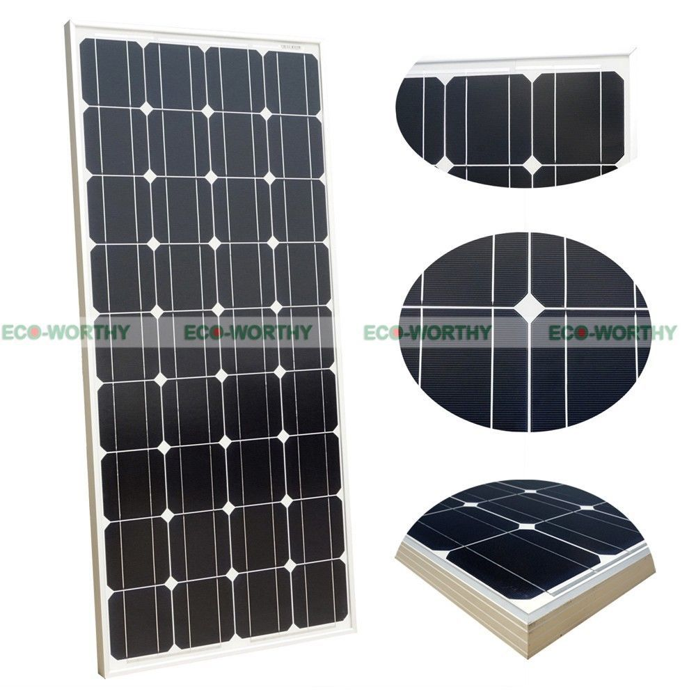 100 Watt 100w Watts Solar Panel 12v Volt Poly Off Grid Battery Charge Rv Solar Panels Solar Energy Panels Solar