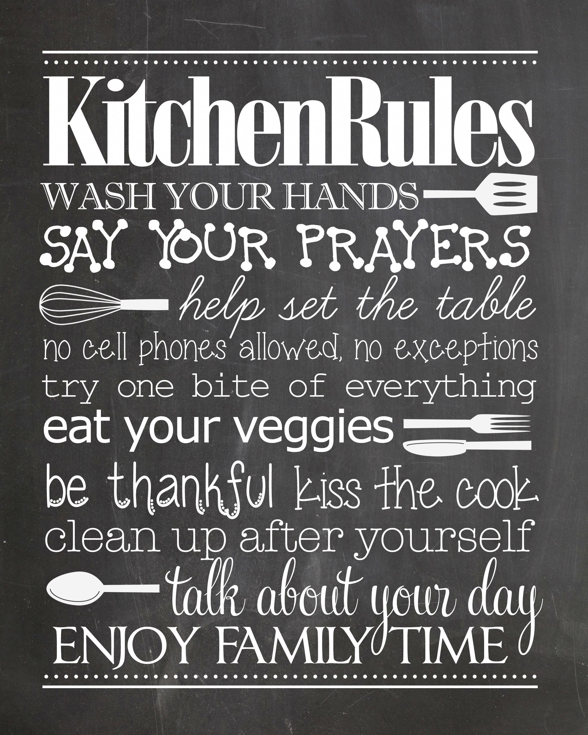Kitchen Rules free printable Gotta have this in the kitchen Easy