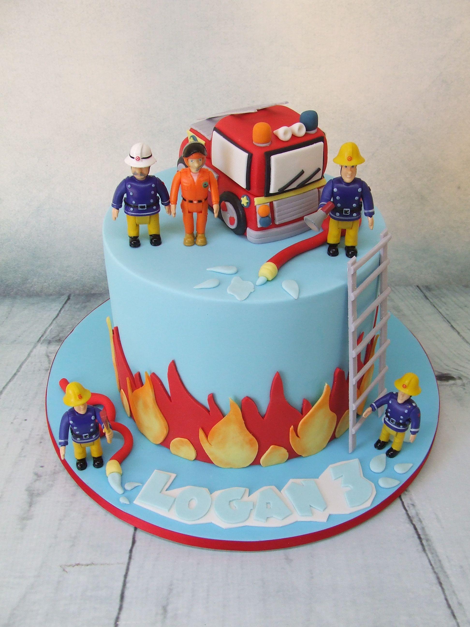 Pin By Brenda Lopez On Birthday Party Pinterest Fireman Sam Cake