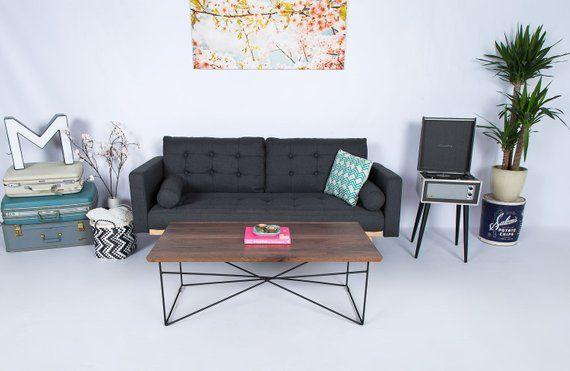 modern coffee table coffee table industrial hairpin leg coffee rh pinterest com