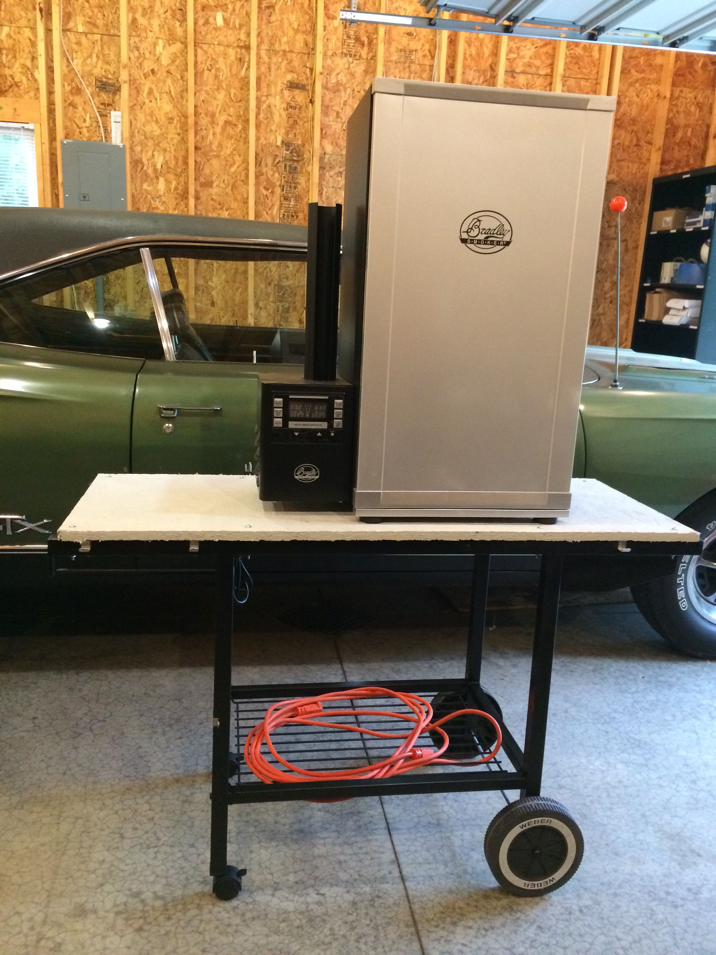 Repurposed Grill Frame Into Electric Smoker Cart Smart