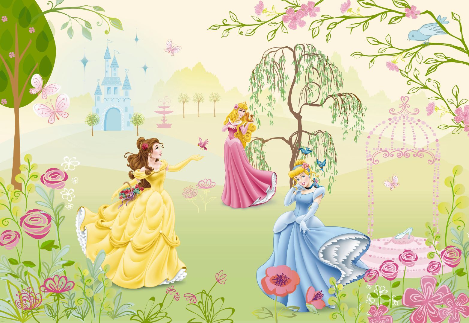 FIT FOR A PRINCESS- Komar Disney Princess Garden Wall Mural 1-417 [1 ...